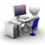 9332382-3d-character-working-on-computer-on-white-background